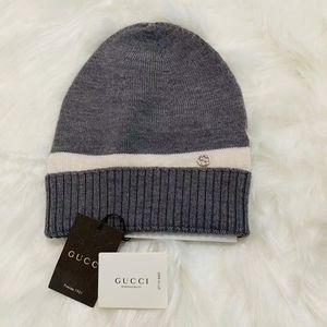 Gucci Grey GG Knit Hats